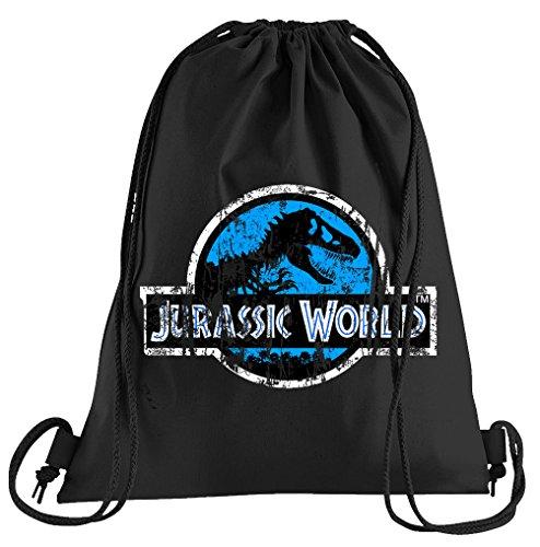 T-Shirt People Jurassic World Distressed Logo Sportbeutel – bedruckter Beutel – eine schöne Sport-Tasche Beutel mit Kordeln