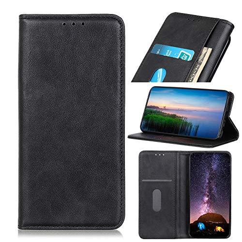 JARNING Funda para Xiaomi Black Shark 3,Cuero Billetera Ovejas Retro Case Carcasa con Dinero Tarjeta de crédito Ranuras y Pata de Cabra Cierre magnético (Negro)