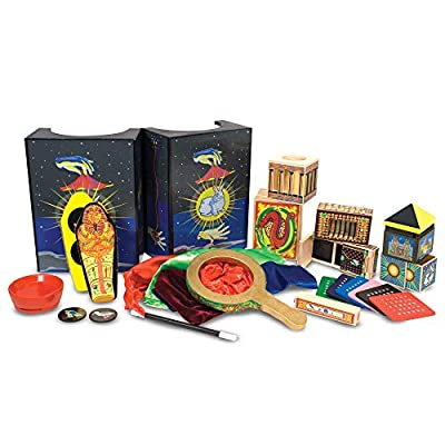 """Melissa & Doug Deluxe Magic Set (Kids Magic Set, 10 Classic Tricks, Step-By-Step Instructions, 3.8"""" H x 14.1"""" W x 9.6"""" L, Great Gift for Girls and Boys - Best for 8, 9, 10 Year Olds and Up)"""