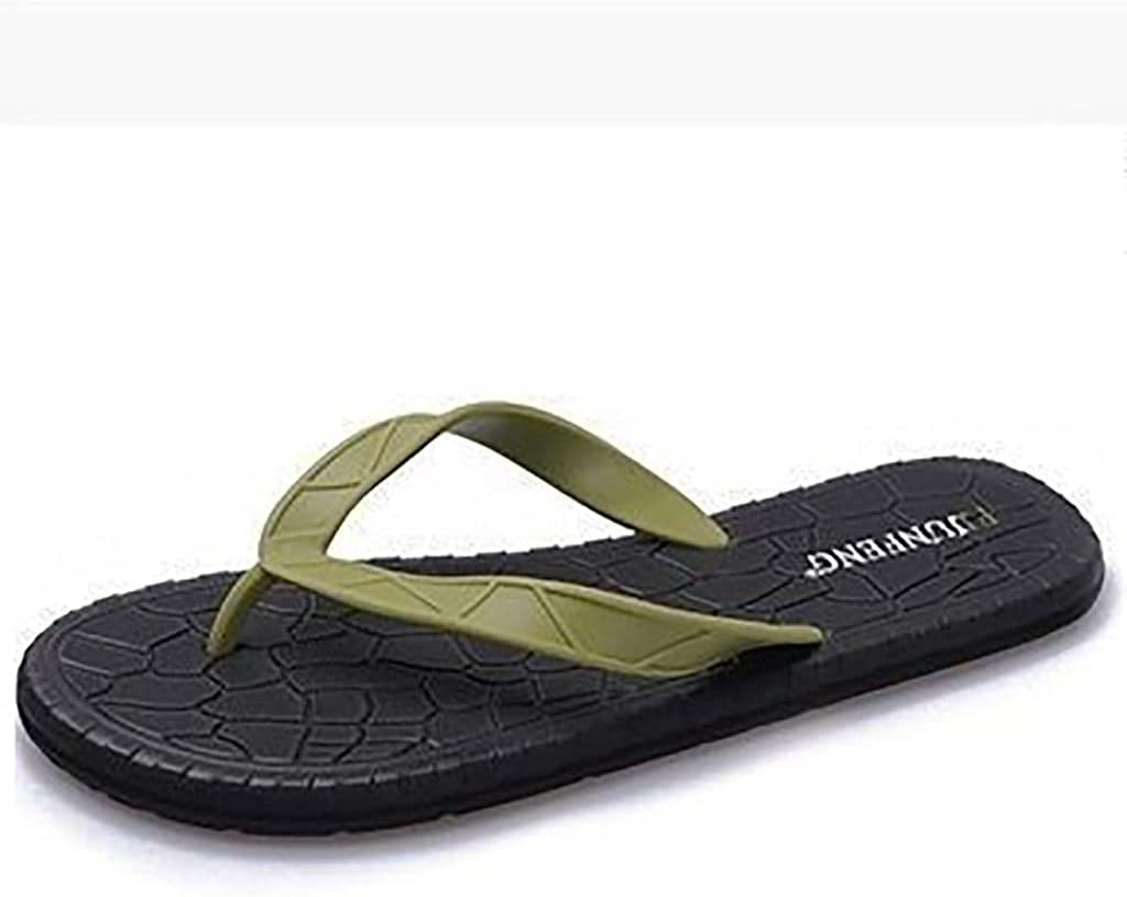 Online limited product HTSKHG Flip-Flops Breathable Slippers Sole Soft Sweat- Max 40% OFF Rubber