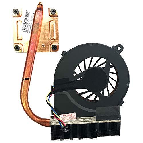 (4-PIN - Version 2) Lüfter Kühler Fan Cooler mit Kühlkörper kompatibel für HP G62-460SG, G62-a58SG, G62-b35SG, G62-a00SG, G62-a59EG, G62-b50SG, G62-a01SG, G62-a60SG, G62-b56SG