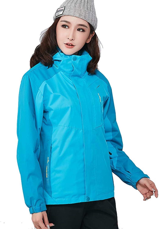 RSTJSjcw Women's TwoPiece Jacket,3 in 1 Ideal Autumn Winter Raincoat