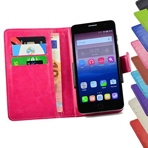 ikracase Tasche für ZTE Blade L7A Hülle Cover Hülle Etui Handy-Tasche Schutz-Hülle in Rosa