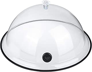 TMKEFFC Smoking Cloche Dome Cover 10 inch Lid for Smoke Infuser Specialized Accessory for Smoker Gun Smoking Infusion Plates, Bowls and Glasses, Transparent