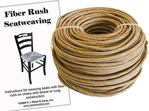 Fiber Rush KIT 6/32 Kraft Brown with Instruction Booklet