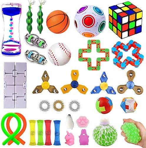 32 Pack Sensory Fidget Toys Set Stress Relief Kits for Kids Adults Gifts for Birthday Party product image
