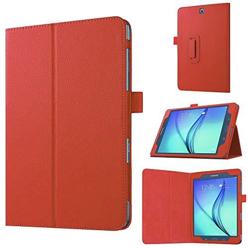 jbTec Tablet-Hülle Schutz-Hülle passend für Samsung Galaxy Tab A 9.7 (SM-T555/SM-T550) - Hülle Tablet Schutzhülle Cover Tablethülle Tasche Flip Hülle, Farbe:Rot