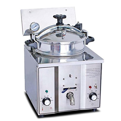 Commercial Electric Finlon Fryer Countertop Pressure Fryer 16L Stainless Chicken Fish