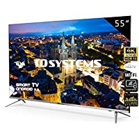 Televisores Smart TV 55 Pulgadas 4K UHD Android 9.0 y Hbbtv / 1300 PCI Hz/ 3X HDMI/ 2X USB/UHD HDR10/DVB-T2/C/S2/ televisiones led TD Systems K55DLJ10US