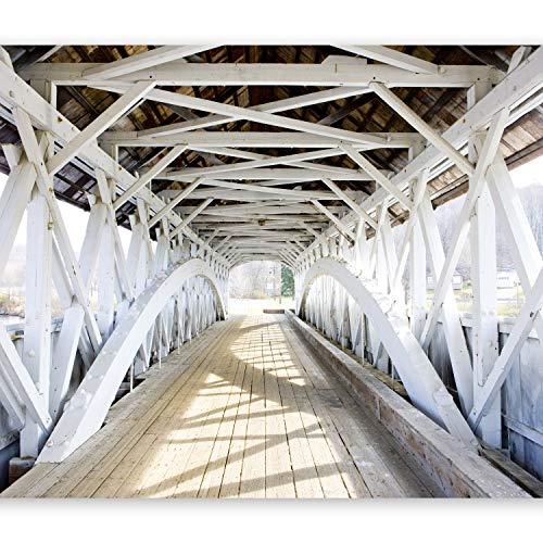Papier peint intissé 300x210 cm ! Top vente - Papier peint - Tableaux muraux XXL Pont Architecture c-B-0071-a-a