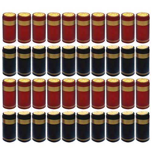 Hemoton 200 Stück Homebrew Top Capfamily Weinzubehör Wärmeschrumpfverschluss Siegel Weinflaschenabdeckung für Weingut Weingut