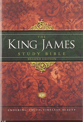 KJV Study Bible, Large Print, Hardcover, Red Letter Edition: Second Edition