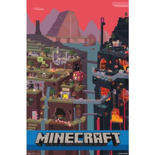 Trends International Minecraft Cube Wall Poster 22.375' x 34'