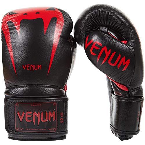 Venum - Guantes de Boxeo Gigante 3.0 de Piel de napa, Color Negro y Rojo, Color Negro, Rojo, tamaño 397 g