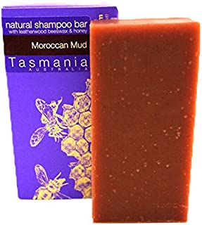 Beauty and the Bees Moroccan Mud Solid Eco-Friendly Shampoo Bar for Curly Hair & Normal Dry Thick Hair | 100% Natural & Organic Conditioning Ingredients Sulfate Free | Defines Curls Tames Frizzy Hair