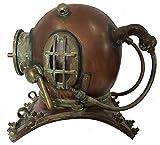 Antique Maritime Brass Deep Diving Helmet Mark V US Navy Nautical Collectible Gift 18'