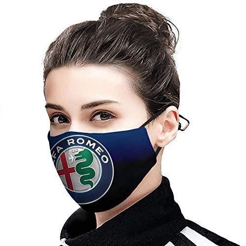 Heezuu Alfa-Romeo-Sports-car-Giulia-SUV- Face Mask MADE IN USA for Men Women Multi-Purpose Face Cover with Adjustable Earloops-Sports-2 MADE IN USA