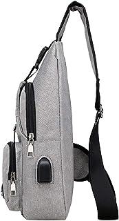 harayaa Mens Sling Bag Brustpackung Anti Theft Travel Causal Message Umhängetasche Rucksack