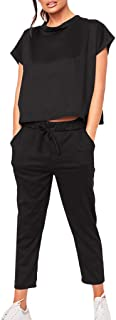 Dreamyth-sets 2PC Women Tracksuits Set Sport Lounge Wear Ladies Casual Tops Pant Suit