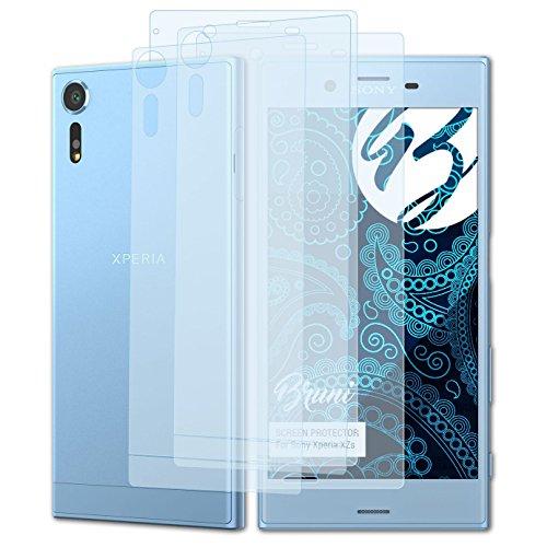 Bruni Schutzfolie kompatibel mit Sony Xperia XZs Folie, glasklare Bildschirmschutzfolie (2er Set)