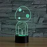 Imagen de dibujos animados 3DLED luz nocturna Una variedad de colores cambiables lámpara de mesa dormitorio decoración regalo