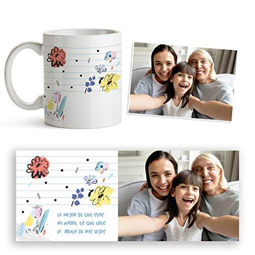 Fotoprix Taza Personalizada Mejor madre y Abuela | Regalo Original día de la Madre | Varios diseños Disponibles. (Diseño: Madre 7)