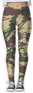 XMKWI Greek Lizard Camouflage Womens Power Flex High Waist Yoga Pants Workout Tights Leggings Trouser