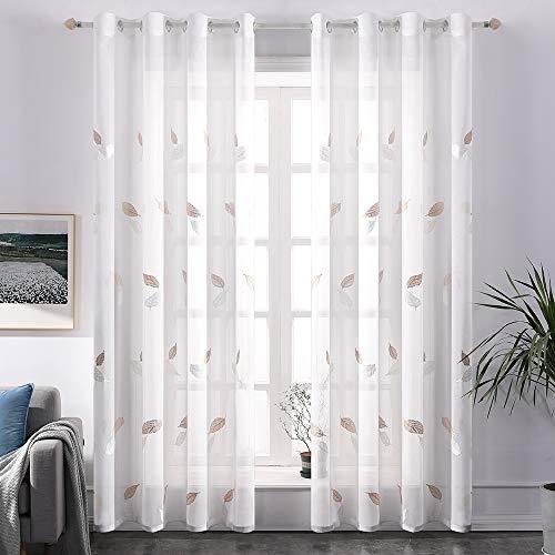 cortinas flores habitacion