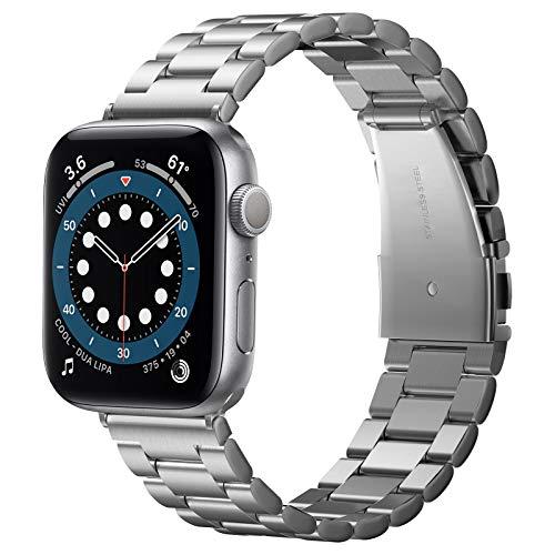 Spigen Modern Fit Compatible con Apple Watch Cinturino per 44mm Serie 6 SE 5 4 e 42mm Series 3 2 1 - Argento