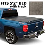 LEER Latitude SC | Fits 2016+ Toyota Tacoma, Bed Size 5'2' | Easy Install, Soft Tri-Fold Truck Bed Tonneau Cover (Matte Black)