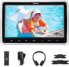 NAVISKAUTO 10.1'' Upgraded Car DVD Player with HDMI Input Mounting Bracket IR Headphone Region Free Last Memory USB SD Card