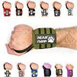 BEAR GRIP - Premium weight lifting wrist support wraps, (Sold in pairs) (Khaki)