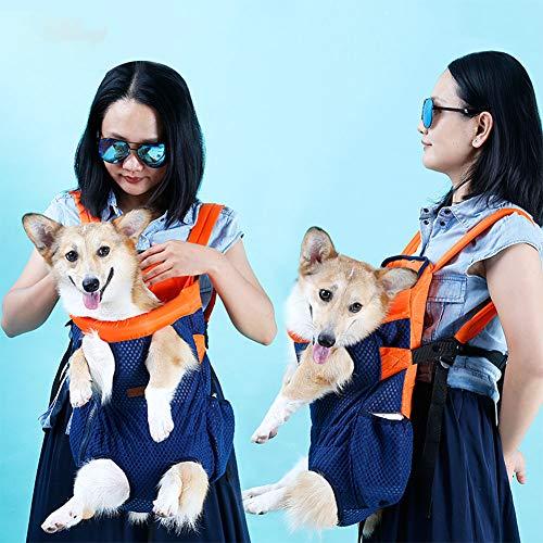 Redcolourful borstzak voor rugzak van ademend mesh voor huisdieren, kleine middelgrote honden, katten, maat L, blauw