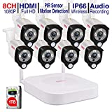 [Security Camera with Audio] Tonton 1080P Full HD Wireless Camera