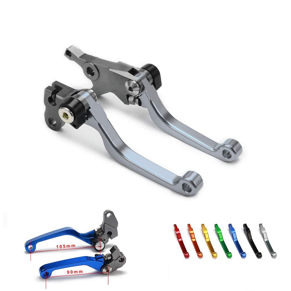 YSMOTO Dirt Bike Hebel Billet Pivot klappbar Kupplung Bremshebel f/ür Suzuki RM85 RM 85 05-17 RM125 RM250 RM 125 250 2004-2008 04-08 Motorrad schwarz