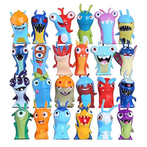 PsWzyze 24 Piezas/Set Slugterra Figuras de acción 5 cm Anime Figuras de acción Juguetes muñecas...