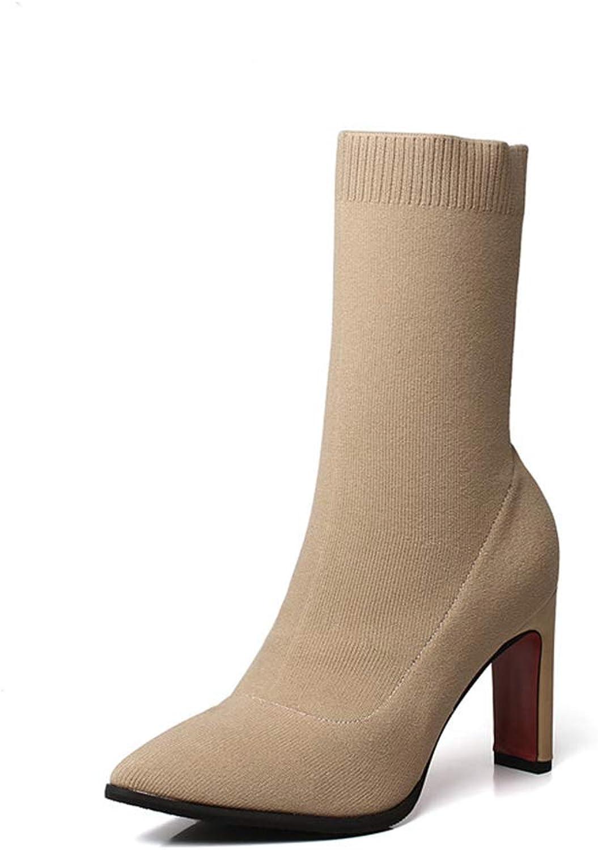 T -JULY Autumn Winter stövlar med tåtåstövlarna Kvinnor Kvinnor Kvinnor superhöga klackar Damer Classic Sock stövlar  försäljning