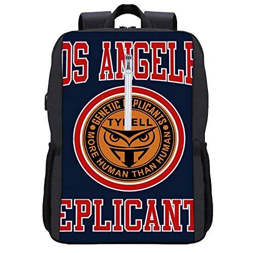Blade Runner Replicants Tyrell Varsity Rucksack Daypack Bookbag Laptop Schultasche mit USB-Ladeanschluss