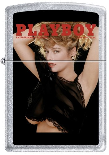 Zippo Playboy June 1988 Cover Satin Chrome Windproof Lighter NEW RARE