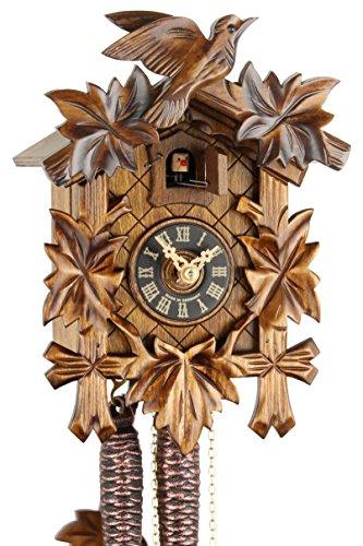 Originele koekoekoekoekoekoekklok uit het Zwarte Wouden van echt hout, mechanisch 1-dag aandrijving en VDS-certificaat - aanbieding van Horlogepark Eble - Eble -Fdunlaub 23 cm- 20-01-12-10