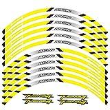 Alta calidad 12 PCS Ajuste de la rueda de la rueda de la rueda de la rueda de la rueda de la raya del borde reflectante para Aprilia Tuono V4 (Color : 7)