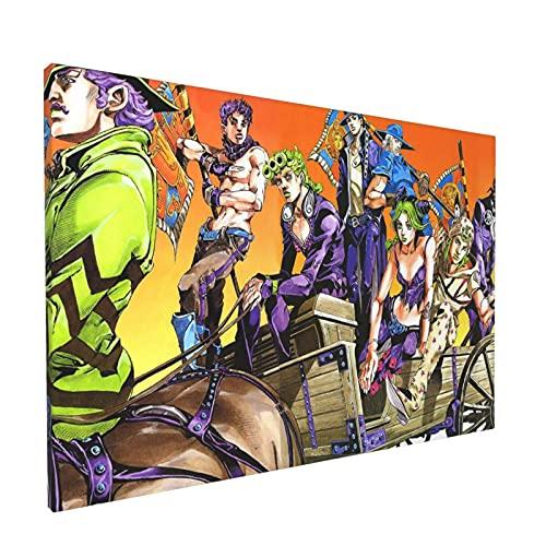 ジョジョの奇妙な冒険 フレームレス装飾画 インテリア装飾 アートパネル フレーム装飾画 キャンバス 壁飾り 壁掛け アートポスター 贈り物 壁の絵 インテリア装
