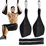 ROSRAN Ab Straps for Pull Up Bar Heavy Duty Pull Up Straps & Hanging Ab Straps for Core Workouts - Ideal Hanging Straps & Ab Hanger for Leg Raises, Knee Ups & Ab Workouts