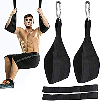 ROSRAN Ab Straps for Pull Up Bar Heavy Duty Pull Up Straps & Hanging Ab Straps for Core Workouts - Ideal Hanging Straps & Ab Hanger for Leg Raises Knee Ups & Ab Workouts