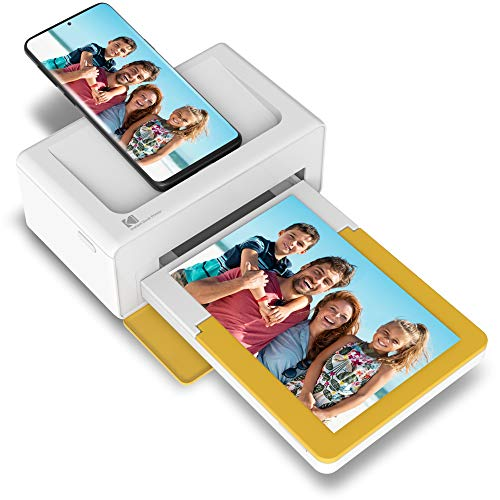 """Kodak Dock Plus Portable Instant Photo Printer, Compatible with iOS, Android and Bluetooth DevicesFull Color Real Photo (4""""x6""""), 4Pass & Lamination Process, Premium Quality - Convenient and Practical"""