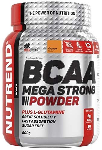 NUTREND BCAA Mega Strong Powder, Orange,500g