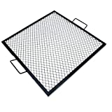 onlyfire X-Marks Square Fire Pit Cooking Grate, 30-Inch