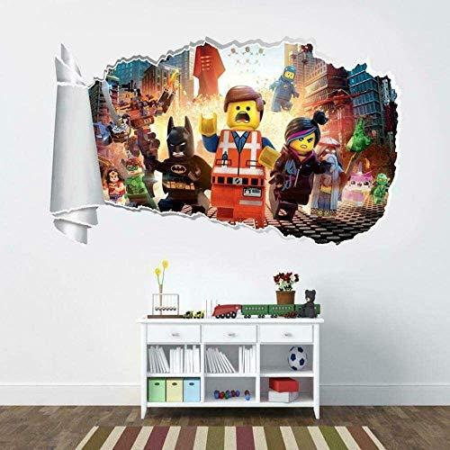 WJFQ 3D Pegatinas Pared Etiqueta engomada de la Pared 3D Super Hero Murales Calcomanías Película Decorativo Vinilo Papel Pintado 50x70cm Decoración de Pared de la Sala de niños extraíbles