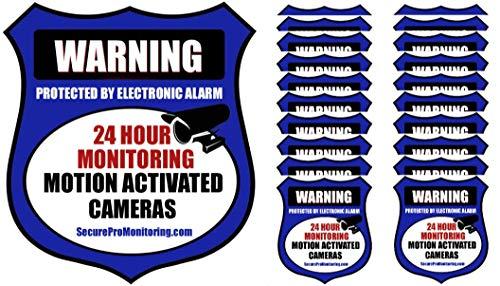 """20""""Real Blue Burglar Alarm Video Surveillance Security Decals Door & Window Stickers"""