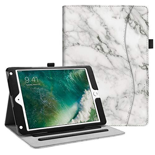 Fintie Funda para iPad 9.7 2018/2017, iPad Air 2, iPad Air - [Protección de Esquina] [Multiángulo] Folio Carcasa con Bolsillo Función de Soporte y Auto-Reposo/Activación, Mármol